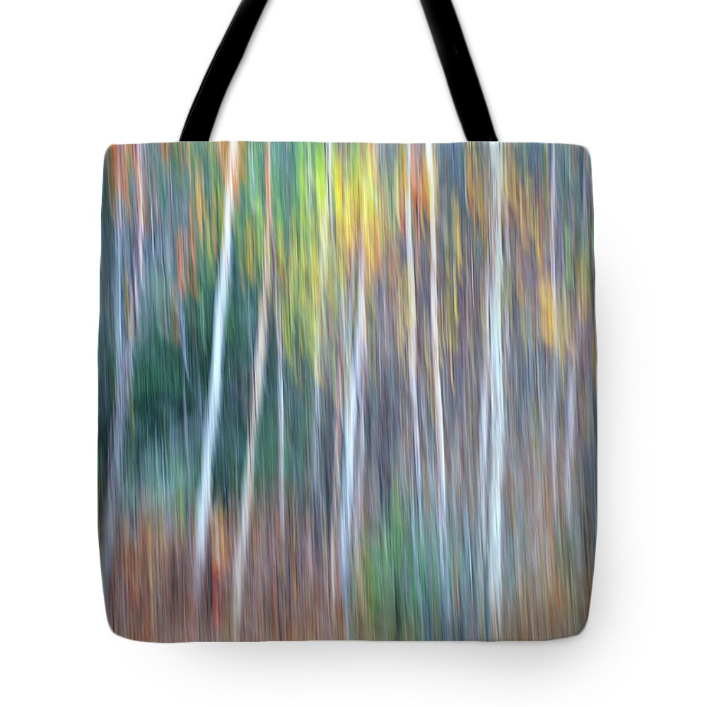 Forest Pastels Form An Autumn Impression Tote Bag featuring the photograph Autumn Impression by Bill Morgenstern