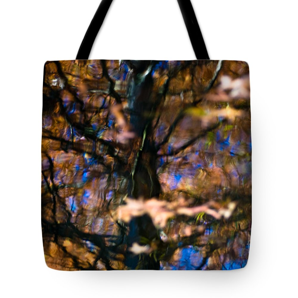 Fine Art Tote Bag featuring the photograph Autumn Impressions by Venetta Archer