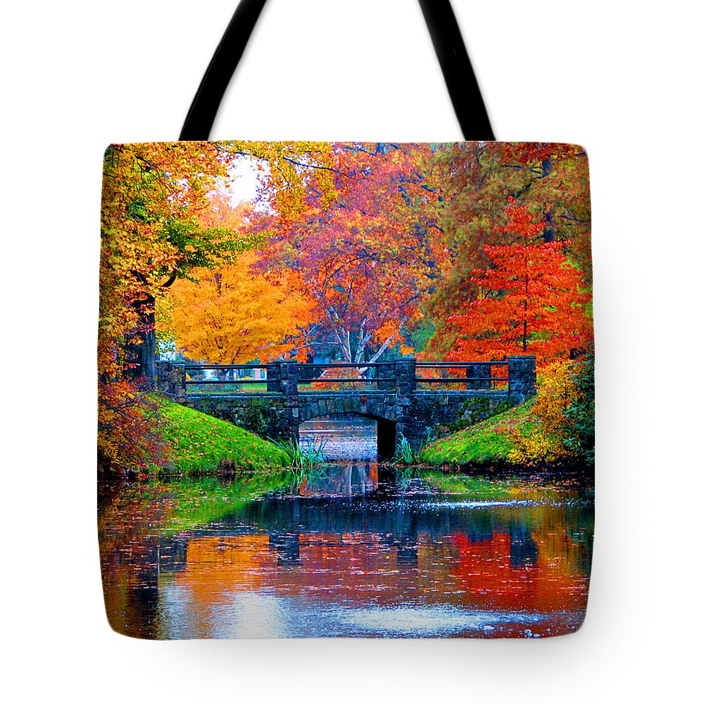 Autumn Tote Bag featuring the photograph Autumn In Boston by Marie Jamieson