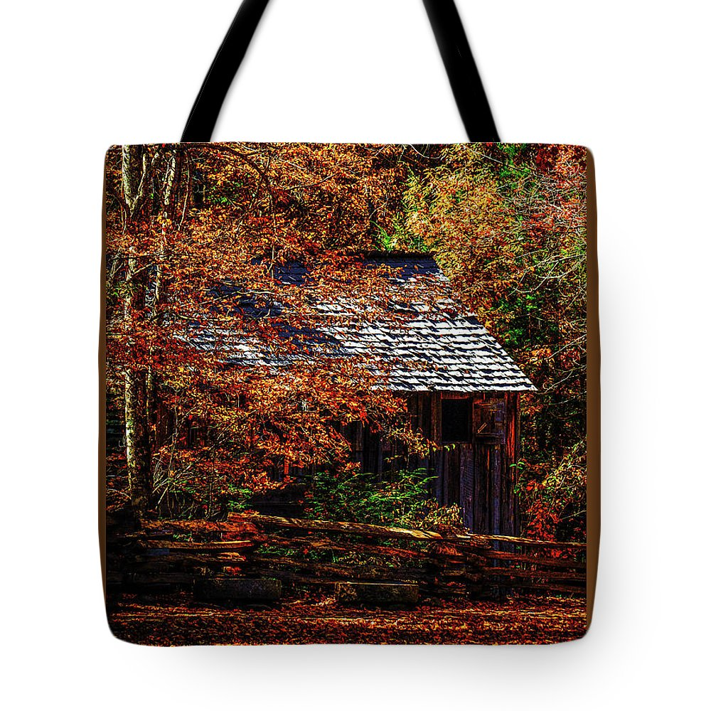 Tennessee Tote Bag featuring the photograph Autumn In Cades Cove Smnp by Mark Fuge