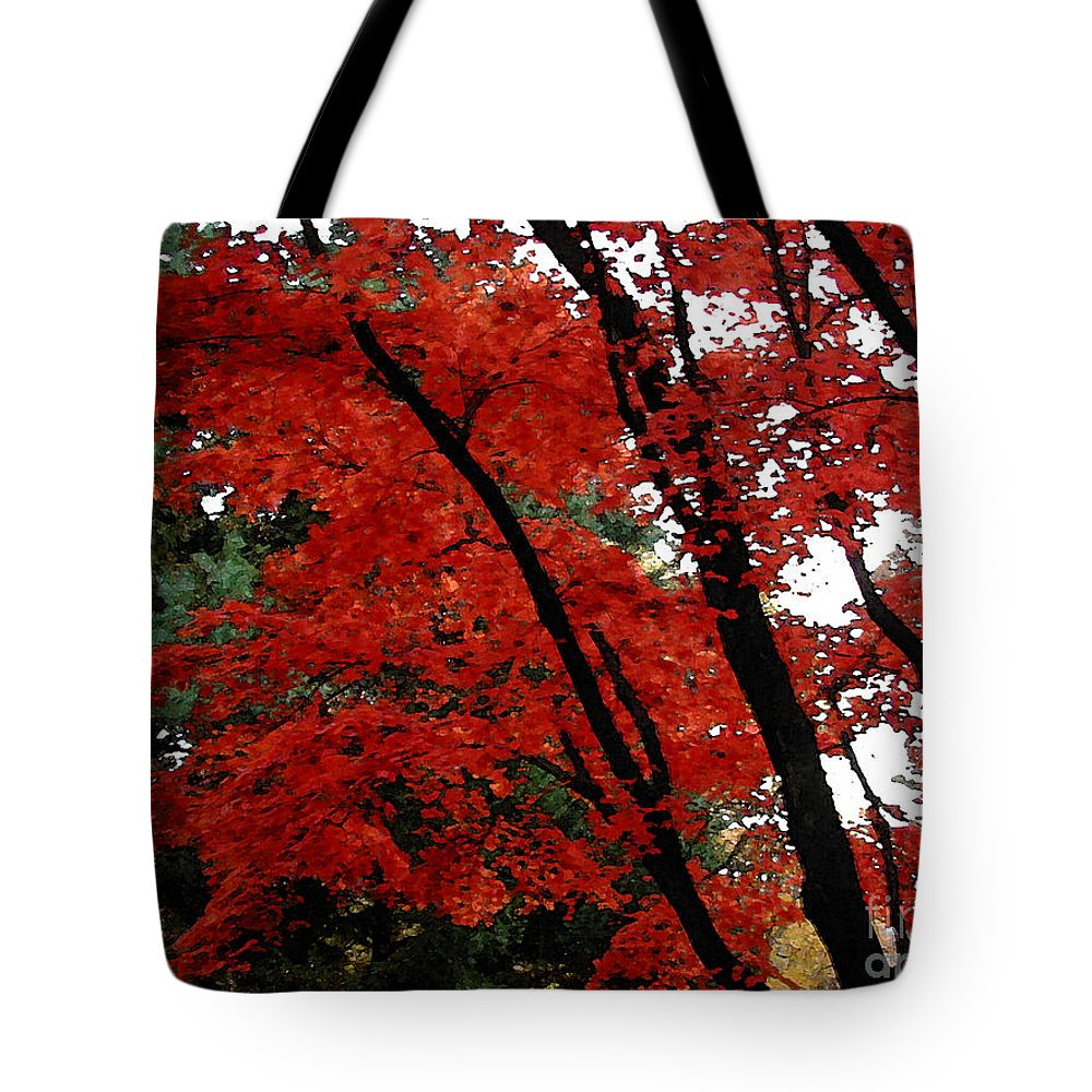 Autumn Tote Bag featuring the photograph Autumn In New England by Melissa A Benson