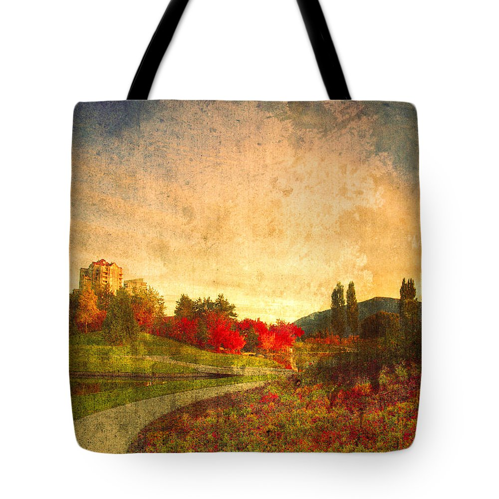 Kelowna Tote Bag featuring the photograph Autumn In The City 2 by Tara Turner
