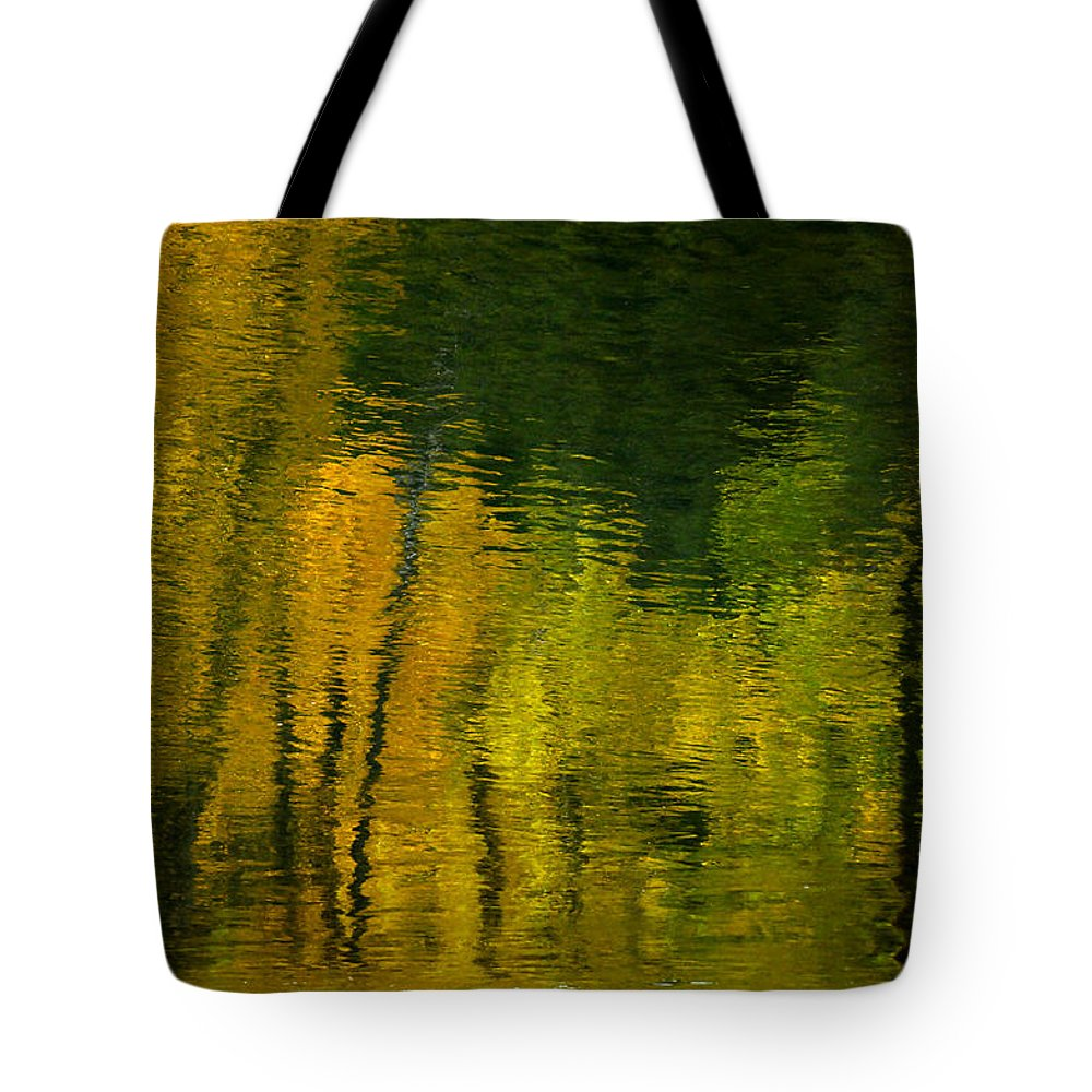 Water Tote Bag featuring the photograph Autumn In Truckee by Donna Blackhall