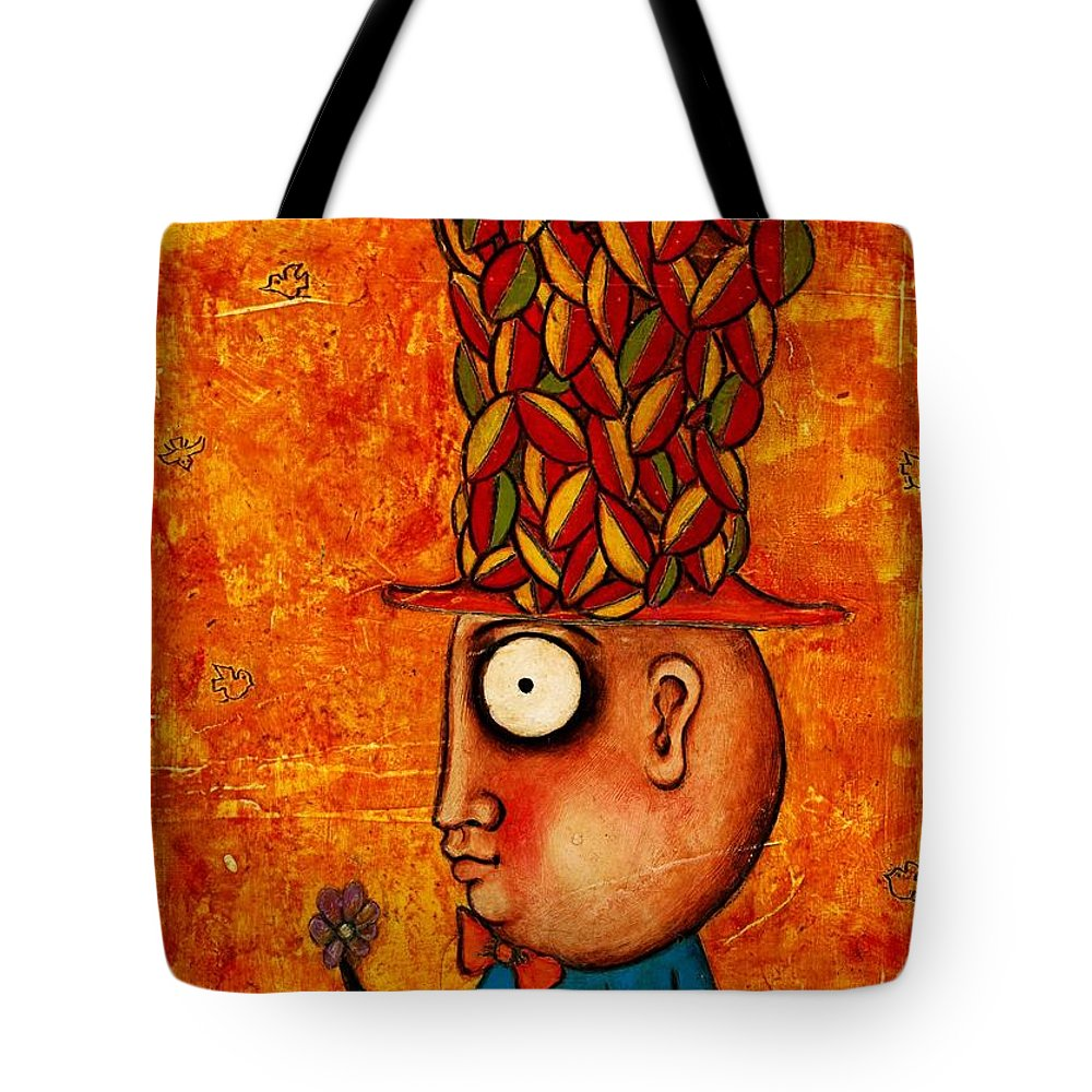 Painting Tote Bag featuring the painting Autumn by Jorgelina Militon