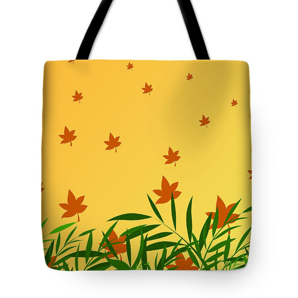 Autumn Tote Bag featuring the digital art Autumn Love by Rabia Shabbir