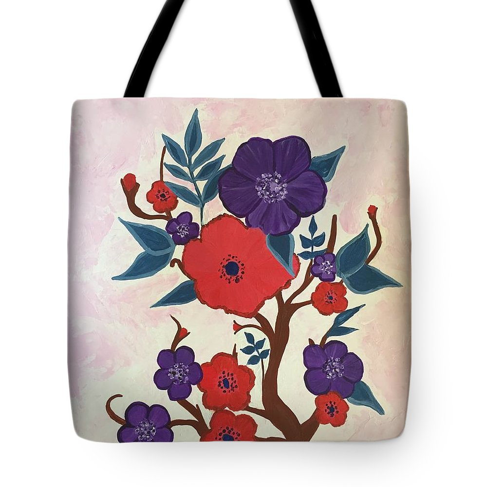 Bold Tote Bag featuring the painting Autumn by Marti Magna