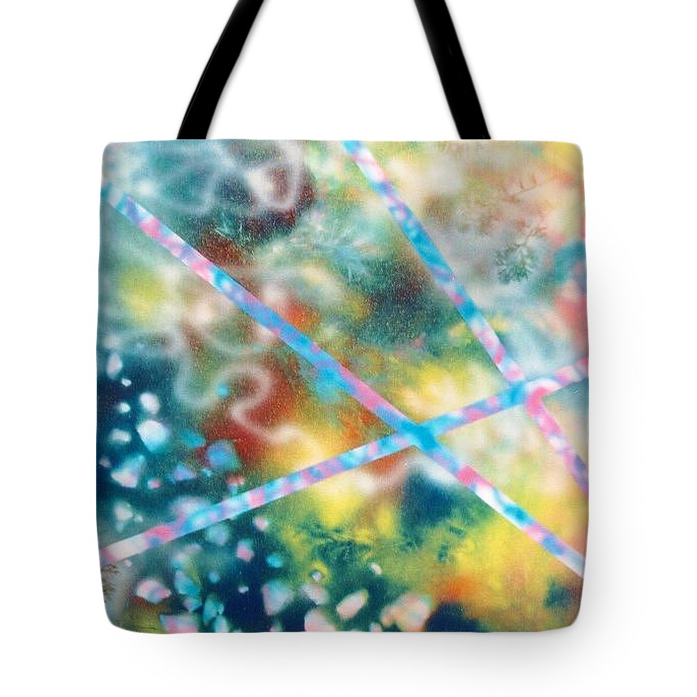 Abstract Tote Bag featuring the painting Autumn by Micah Guenther
