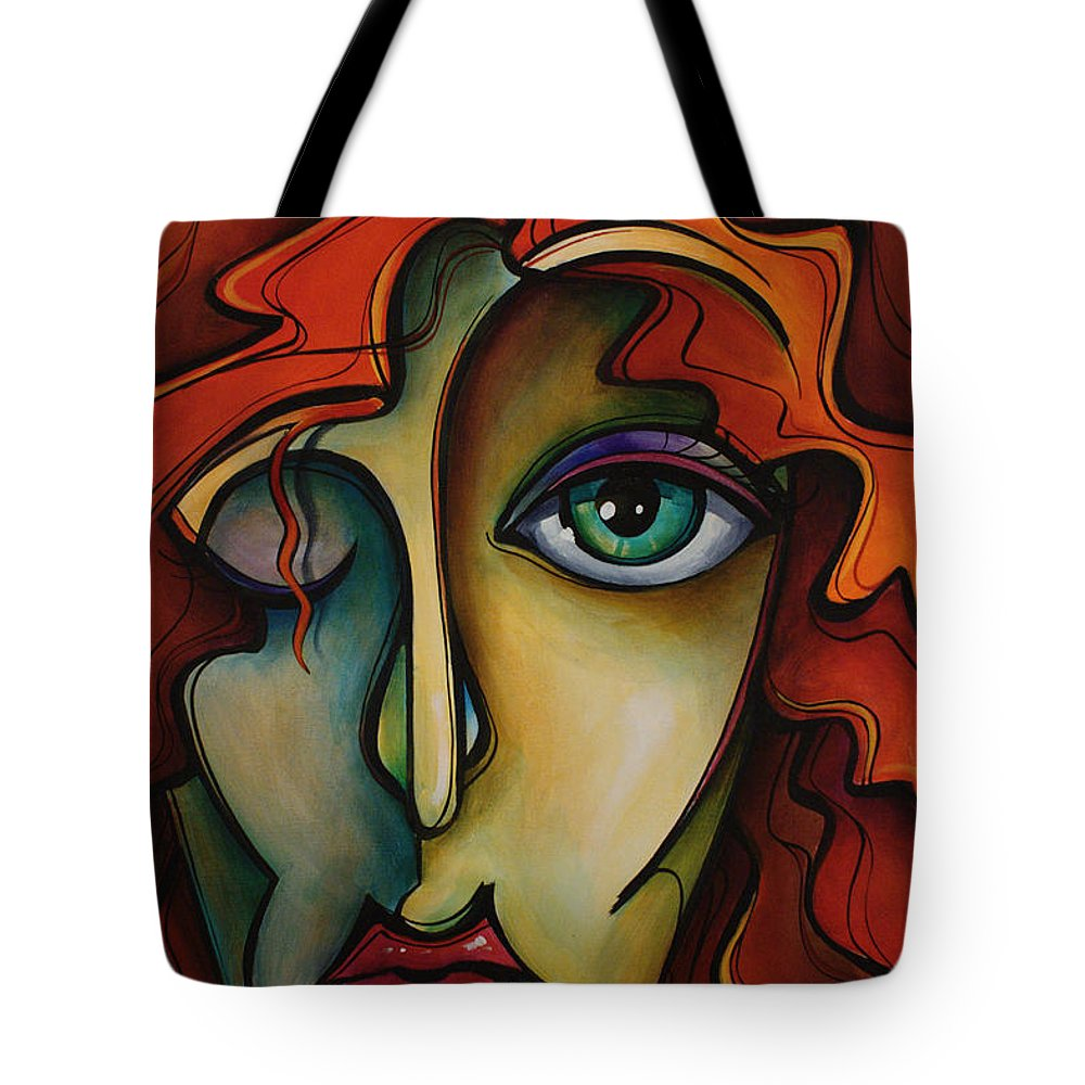 Urban Art Tote Bag featuring the painting Autumn by Michael Lang