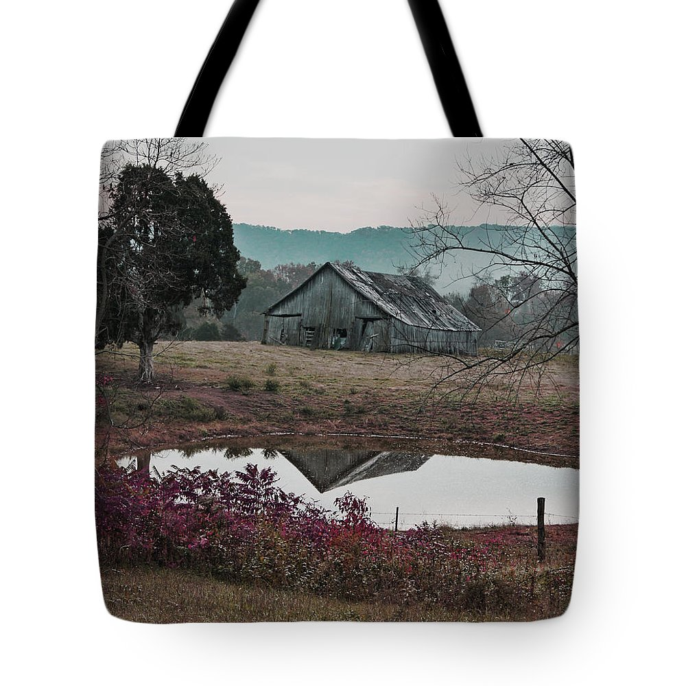 Landscape Tote Bag featuring the photograph Autumn Morning by Randy Ball