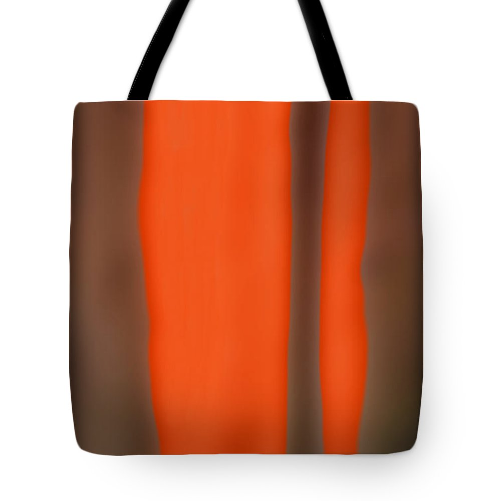 Abstract Art Tote Bag featuring the digital art Autumn Neon by Suzi Freeman