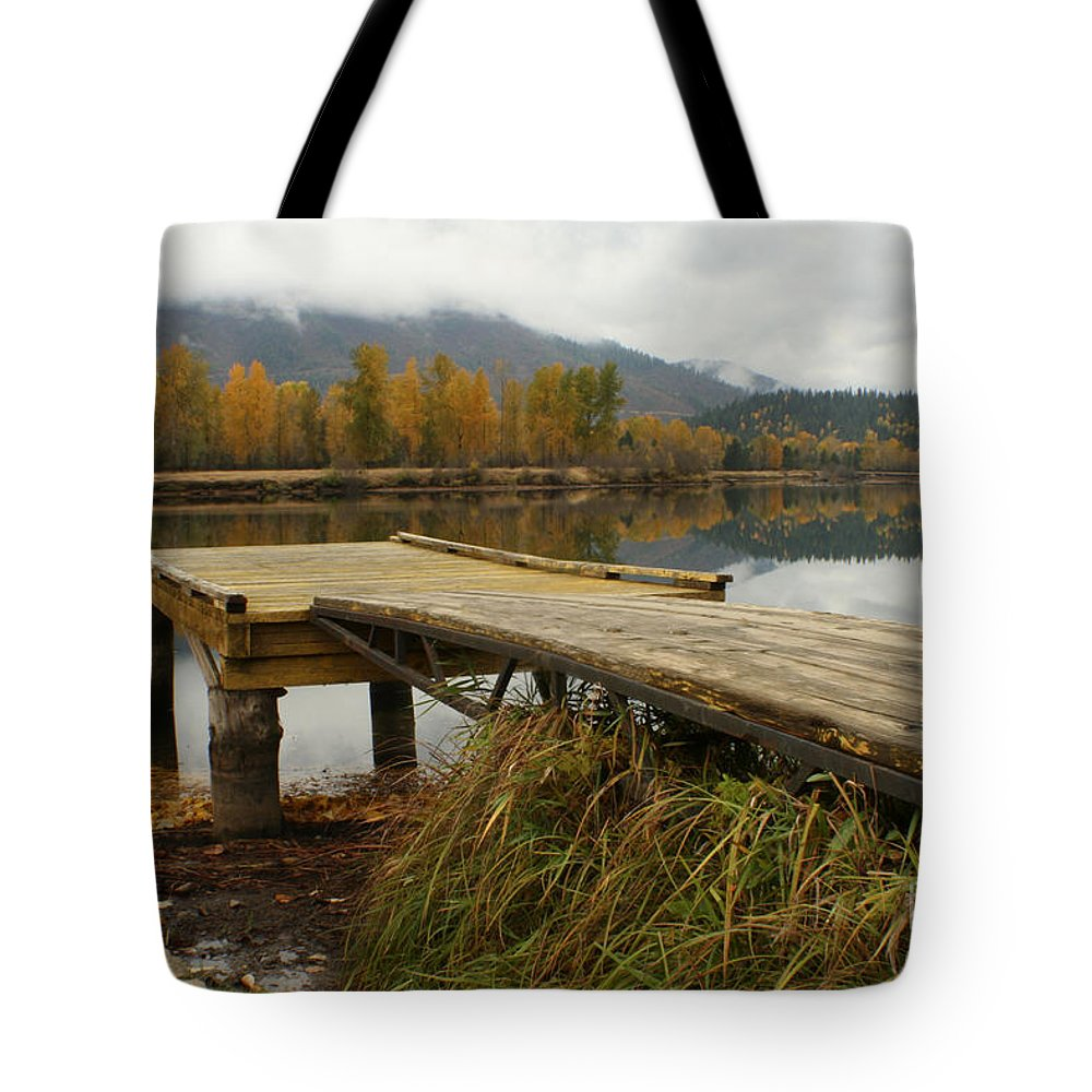River Tote Bag featuring the photograph Autumn On The River by Idaho Scenic Images Linda Lantzy
