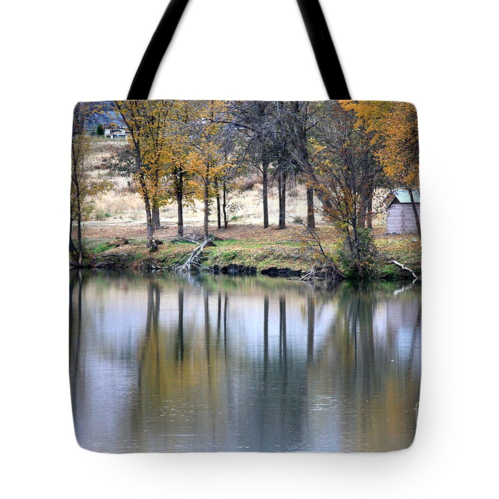 Fall Reflection Tote Bag featuring the photograph Autumn Reflection 16 by Carol Groenen