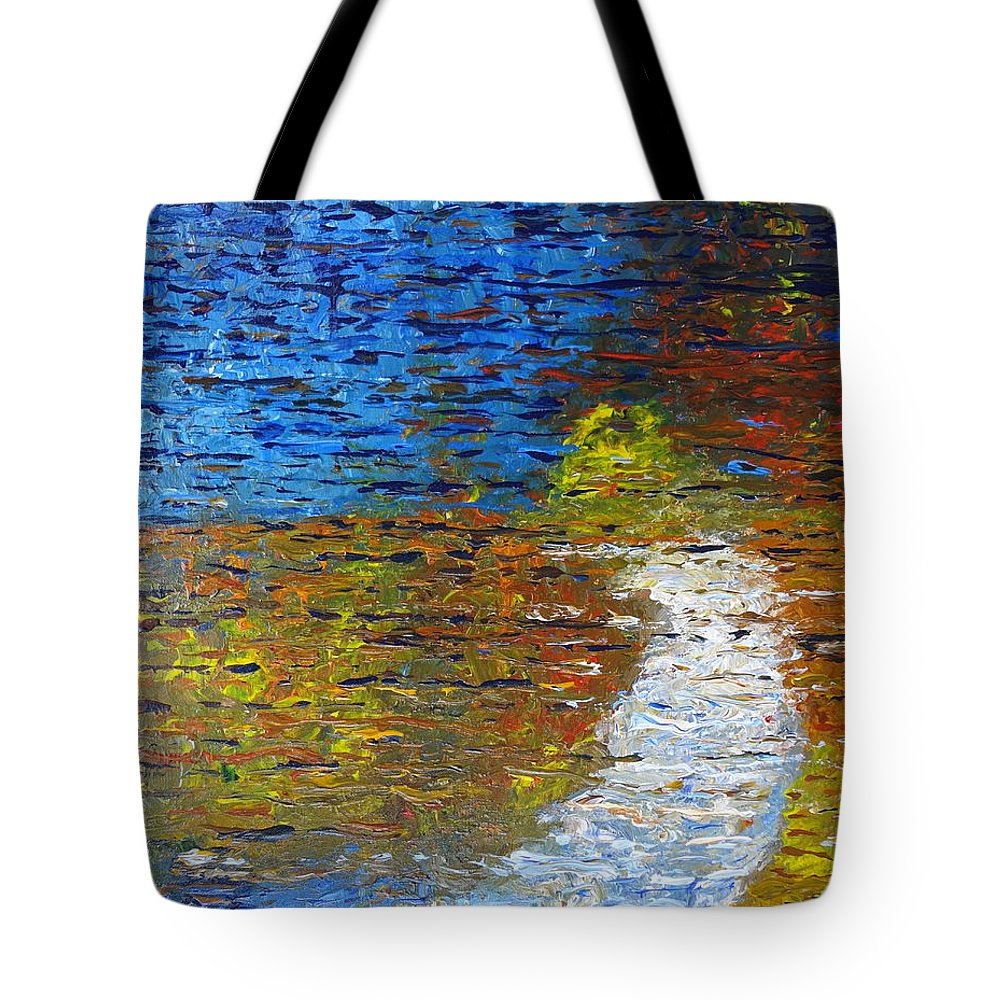 Autumn Reflection Tote Bag featuring the painting Autumn Reflection by Jacqueline Athmann