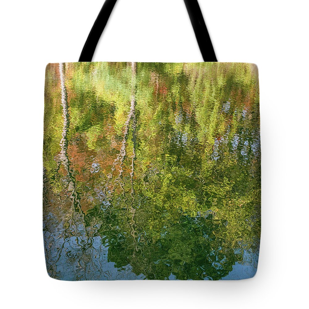 35mm Film Tote Bag featuring the photograph Autumn Reflection by John McGraw