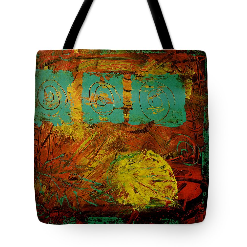 Acrylic Tote Bag featuring the painting Autumn Reformated by Wayne Potrafka