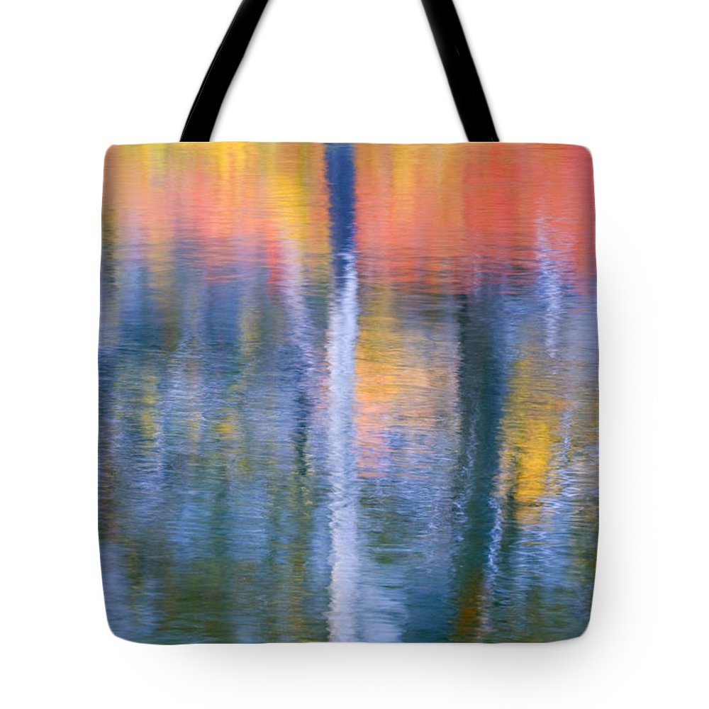 Reflection Tote Bag featuring the photograph Autumn Resurrection by Mike Dawson