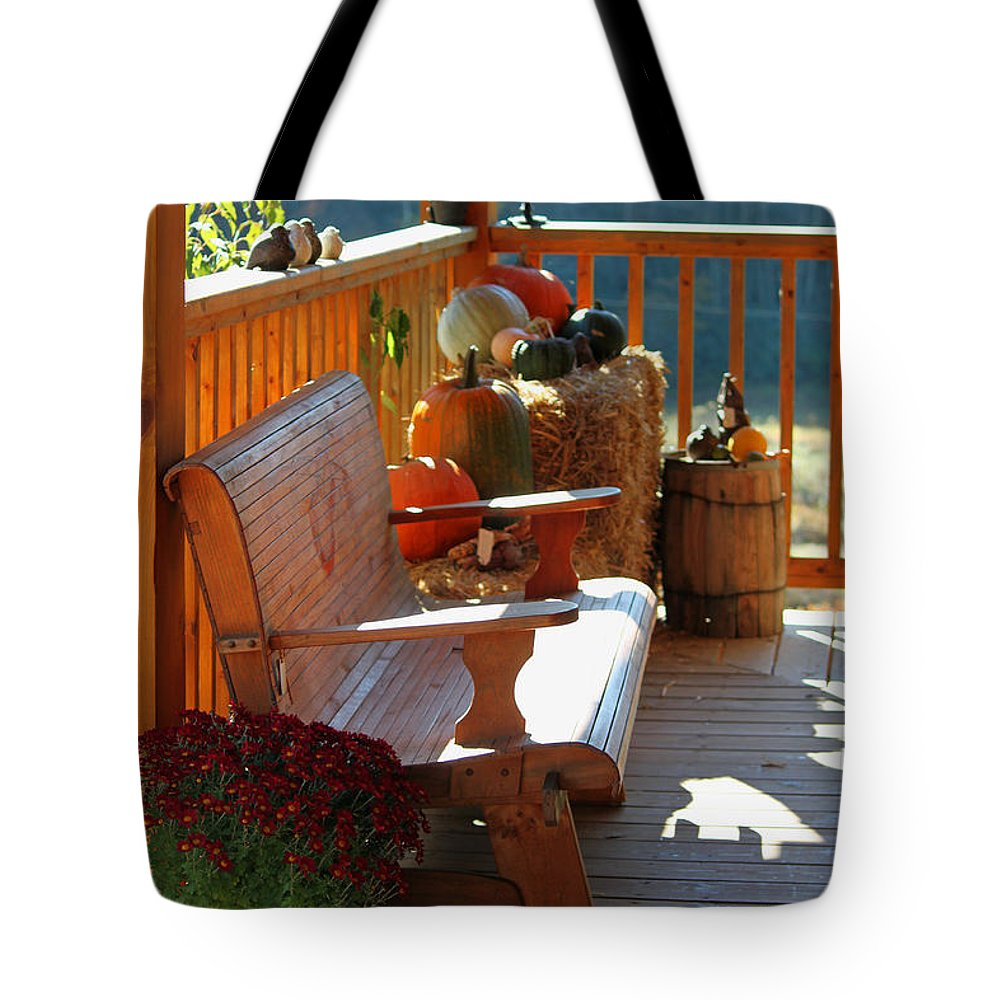 Fall Tote Bag featuring the photograph Autumn Retreat by Suzanne Gaff