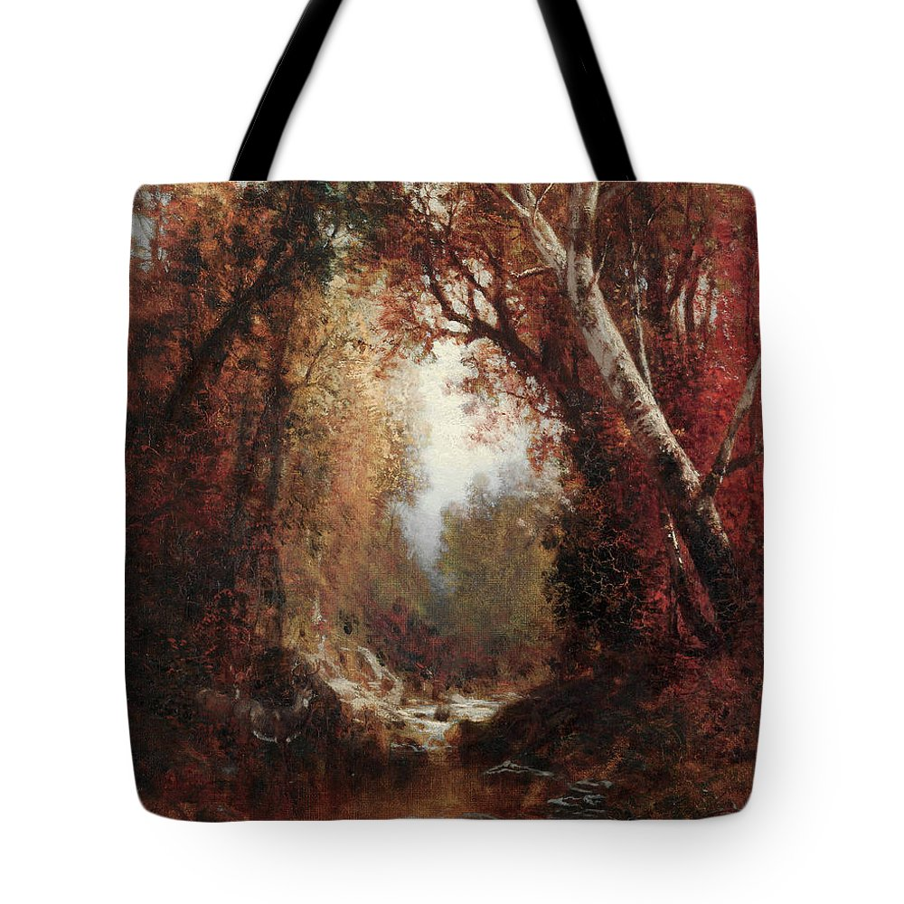 Adirondack Mountains Paintings Tote Bags