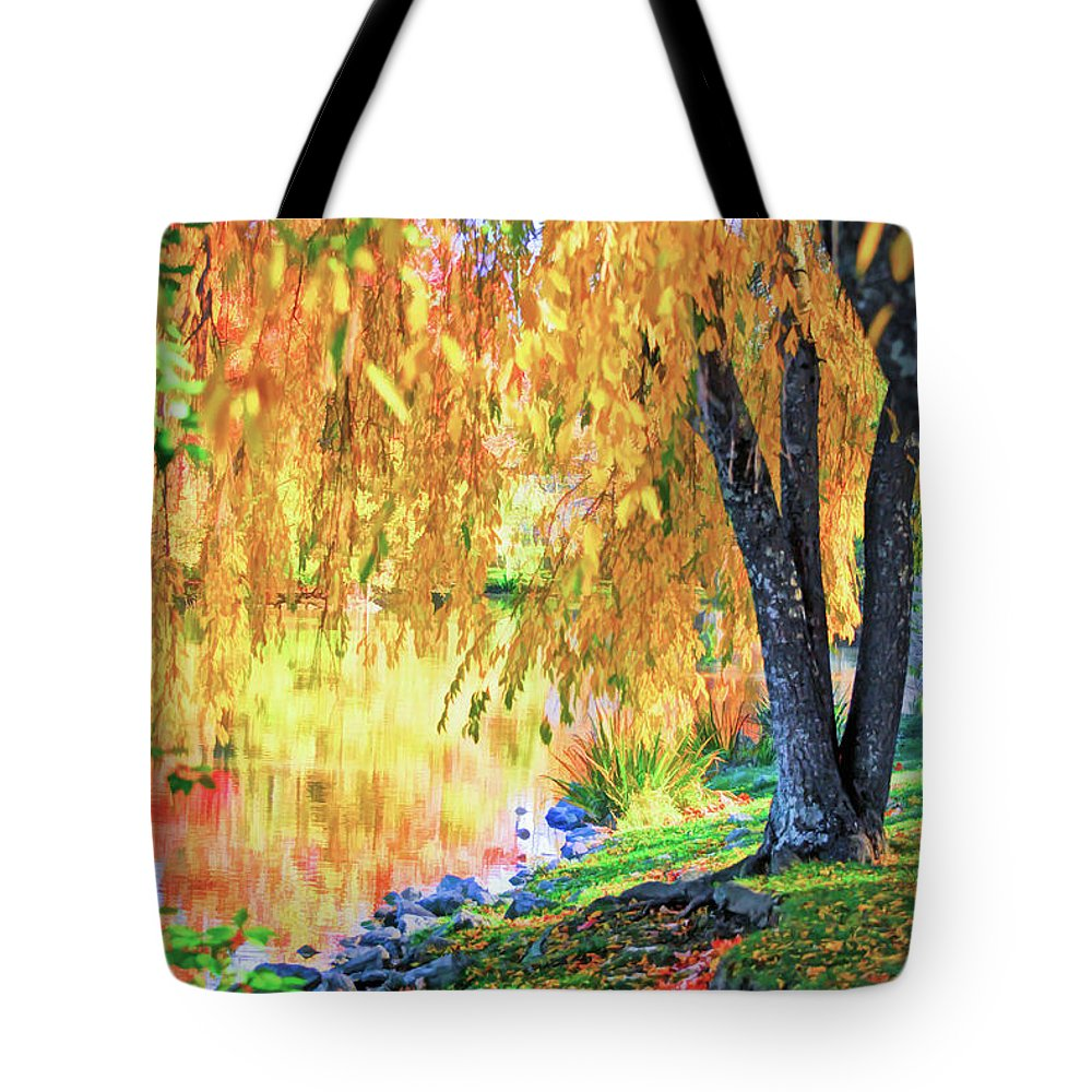 Autumn Scenery At The Virginia Tech Duck Pond Tote Bag for Sale by ...