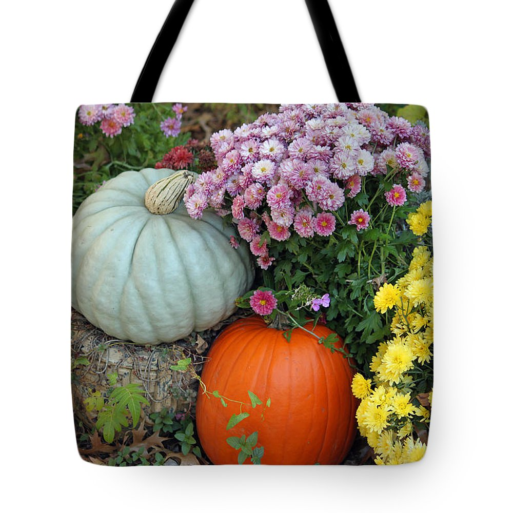 Fall Tote Bag featuring the photograph Autumn Still Life by Suzanne Gaff