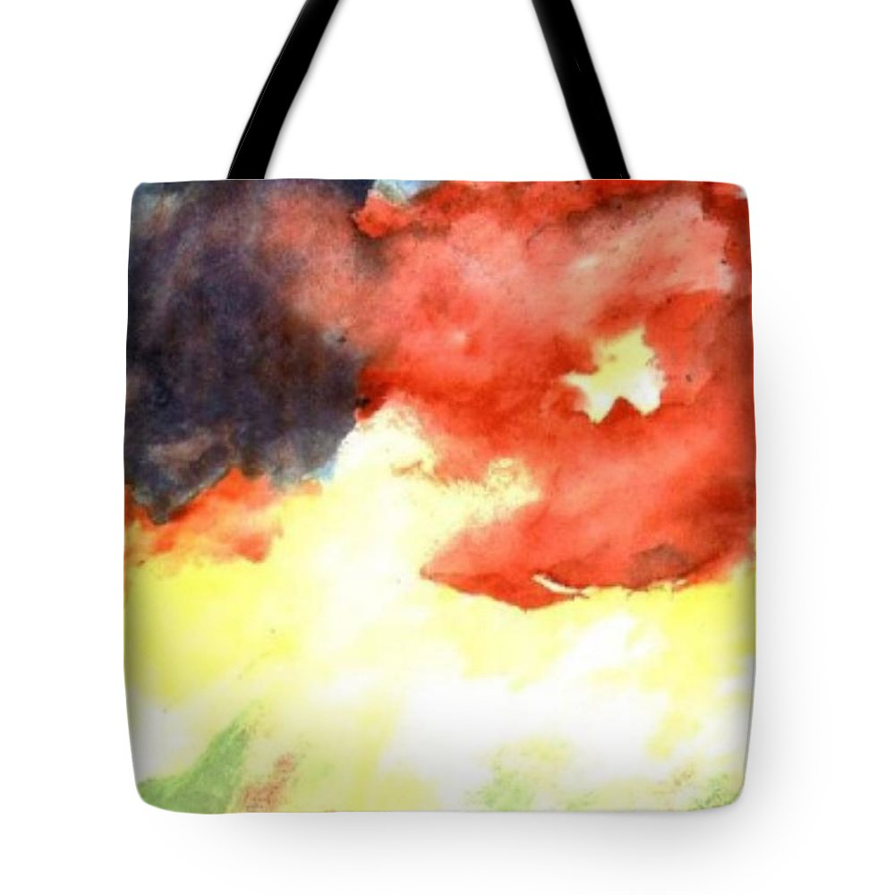 Autumn Tote Bag featuring the painting Autumn Storm by Andrew Gillette
