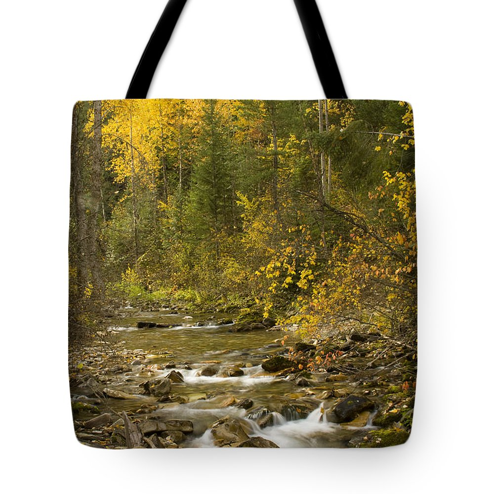 Idaho Tote Bag featuring the photograph Autumn Stream by Idaho Scenic Images Linda Lantzy