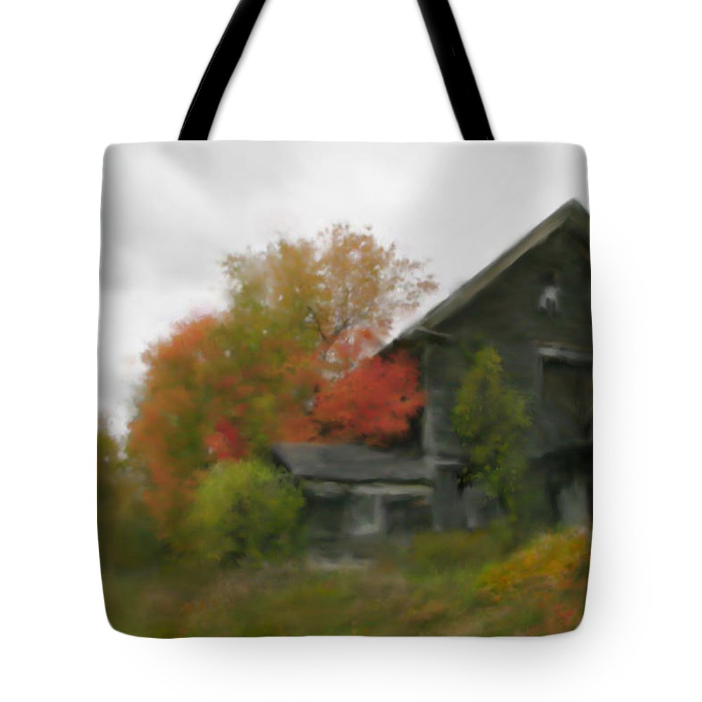 Nature Tote Bag featuring the painting Autumn Stroll by Stephen Lucas