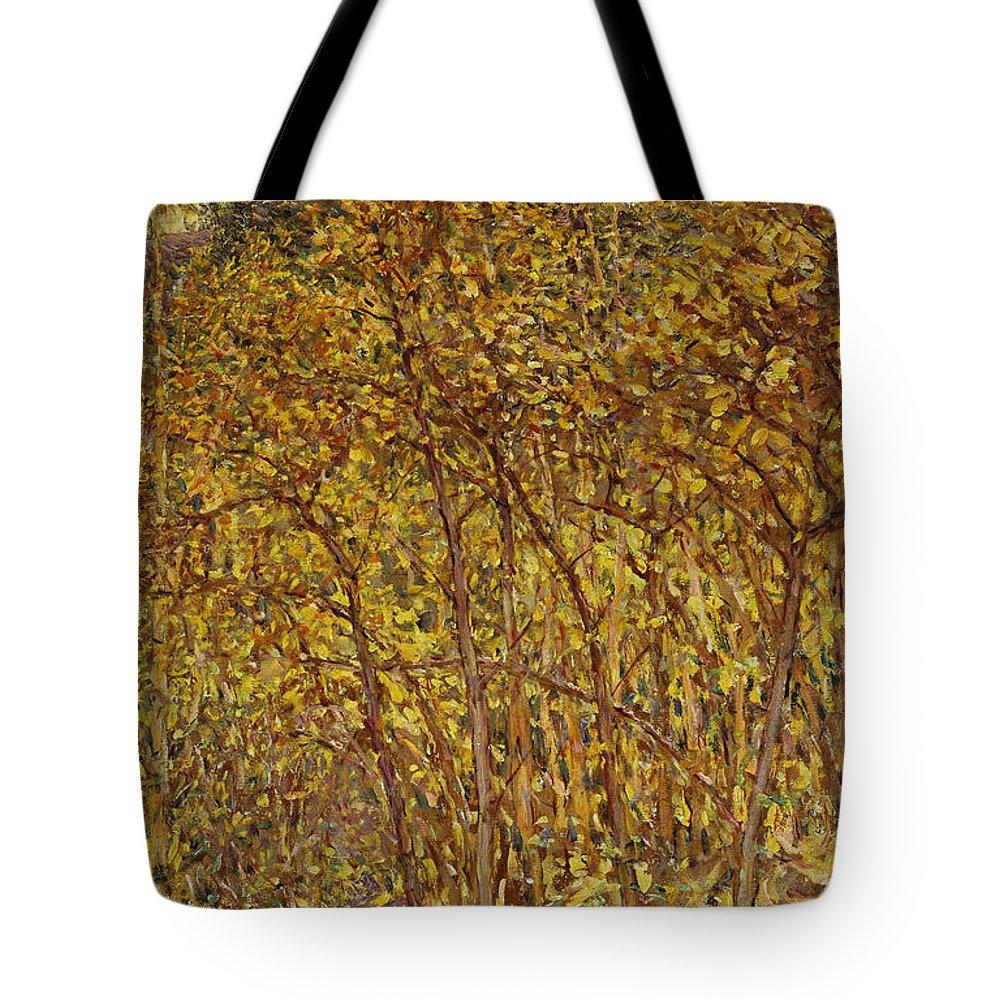 Autumn Sunlight Tote Bag featuring the painting Autumn Sunlight by Robert Reid