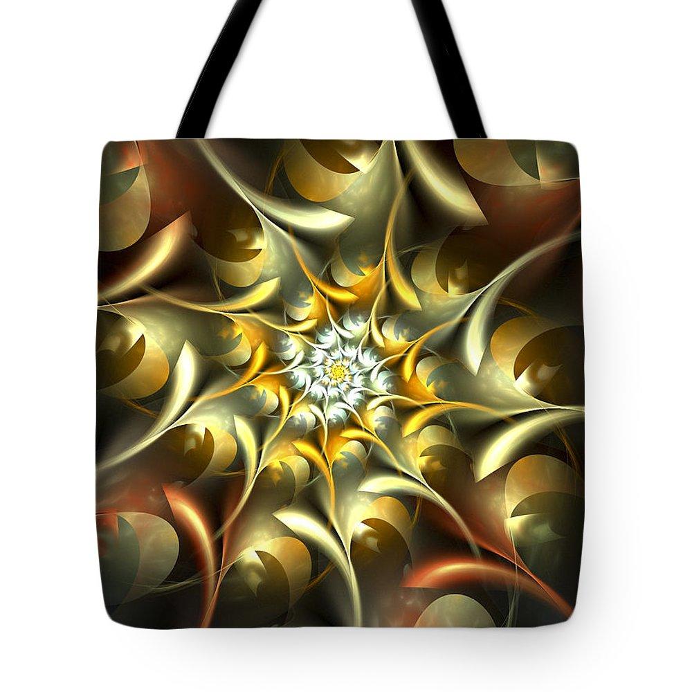 Apophysis Tote Bag featuring the digital art Autumn Treasures by Amorina Ashton