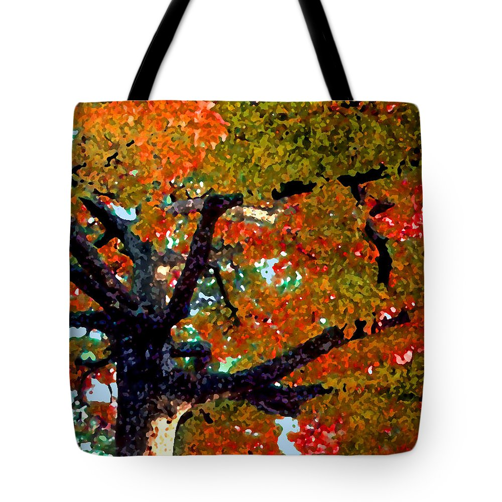 Fall Tote Bag featuring the photograph Autumn Tree by Steve Karol
