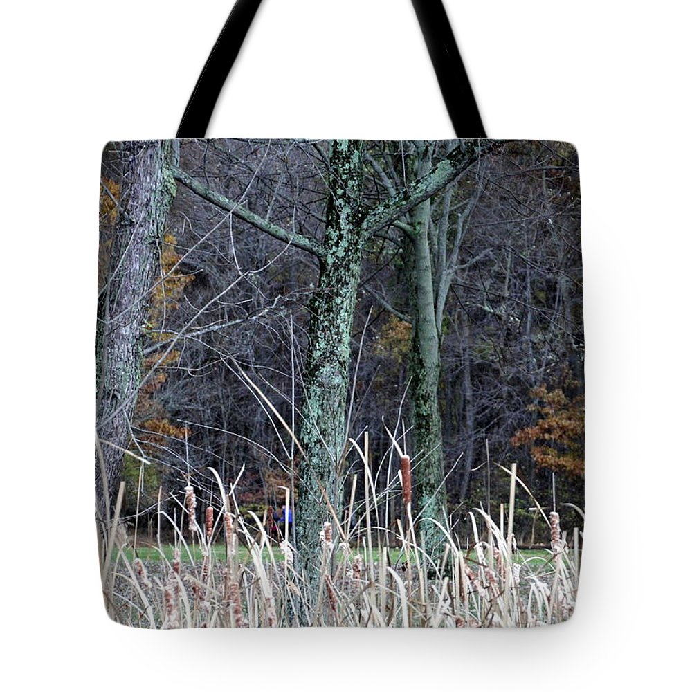 Woods Tote Bag featuring the photograph Autumn Woods by Valerie Collins