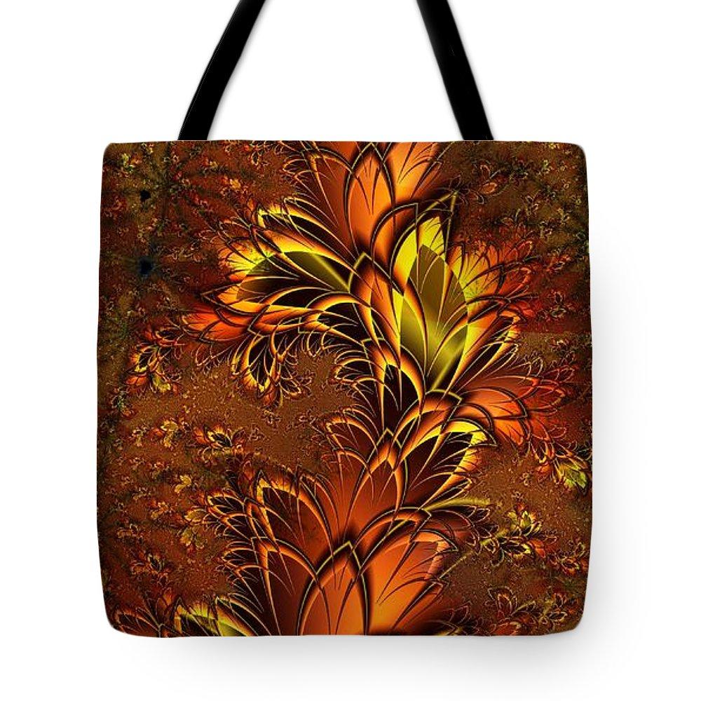 Digital Art Tote Bag featuring the digital art Autumnal Glow by Amanda Moore