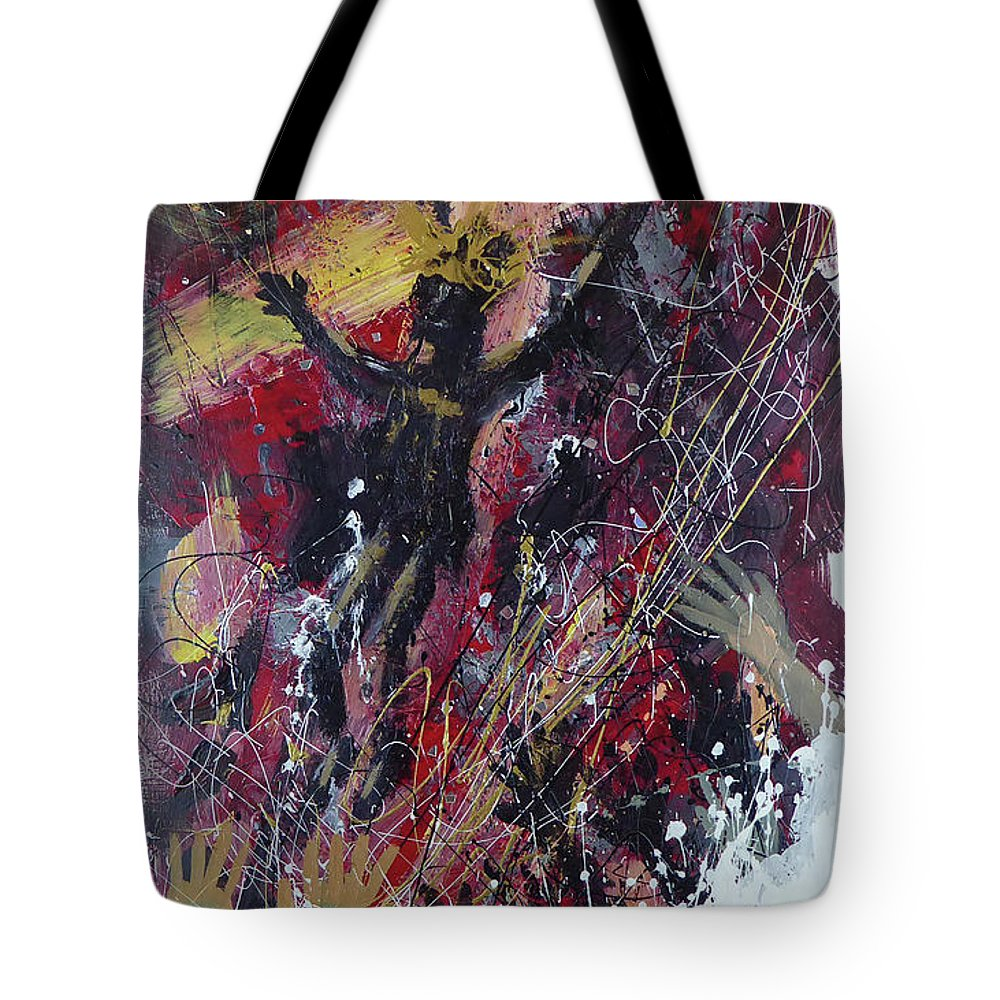 Christ Avatar Diety Tote Bag featuring the painting Avatar by Jack Hanzer Susco