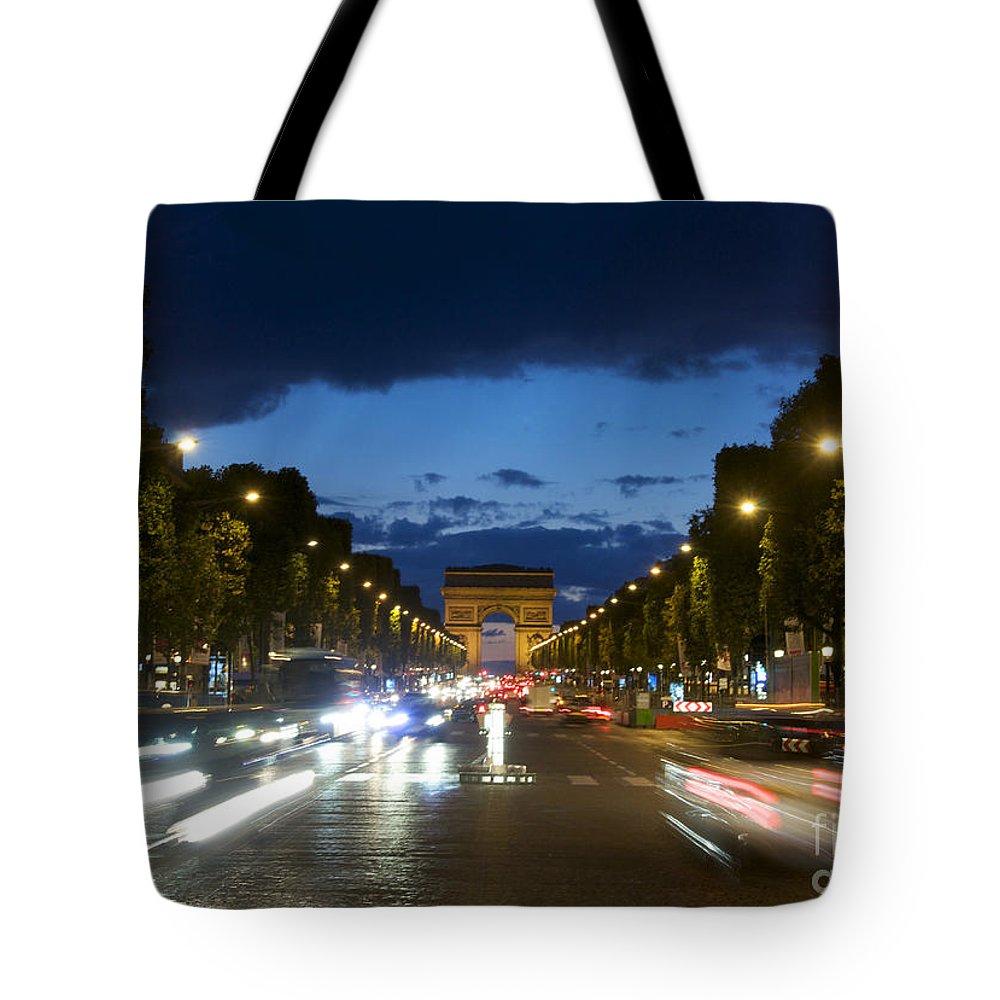 Paris Tote Bag featuring the photograph Avenue Des Champs Elysees. Paris by Bernard Jaubert