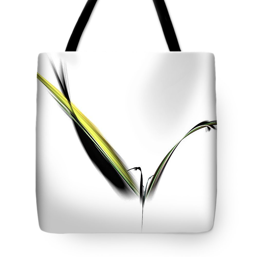 Avian Tote Bag featuring the digital art Avian Zen - Fractal Art by NirvanaBlues