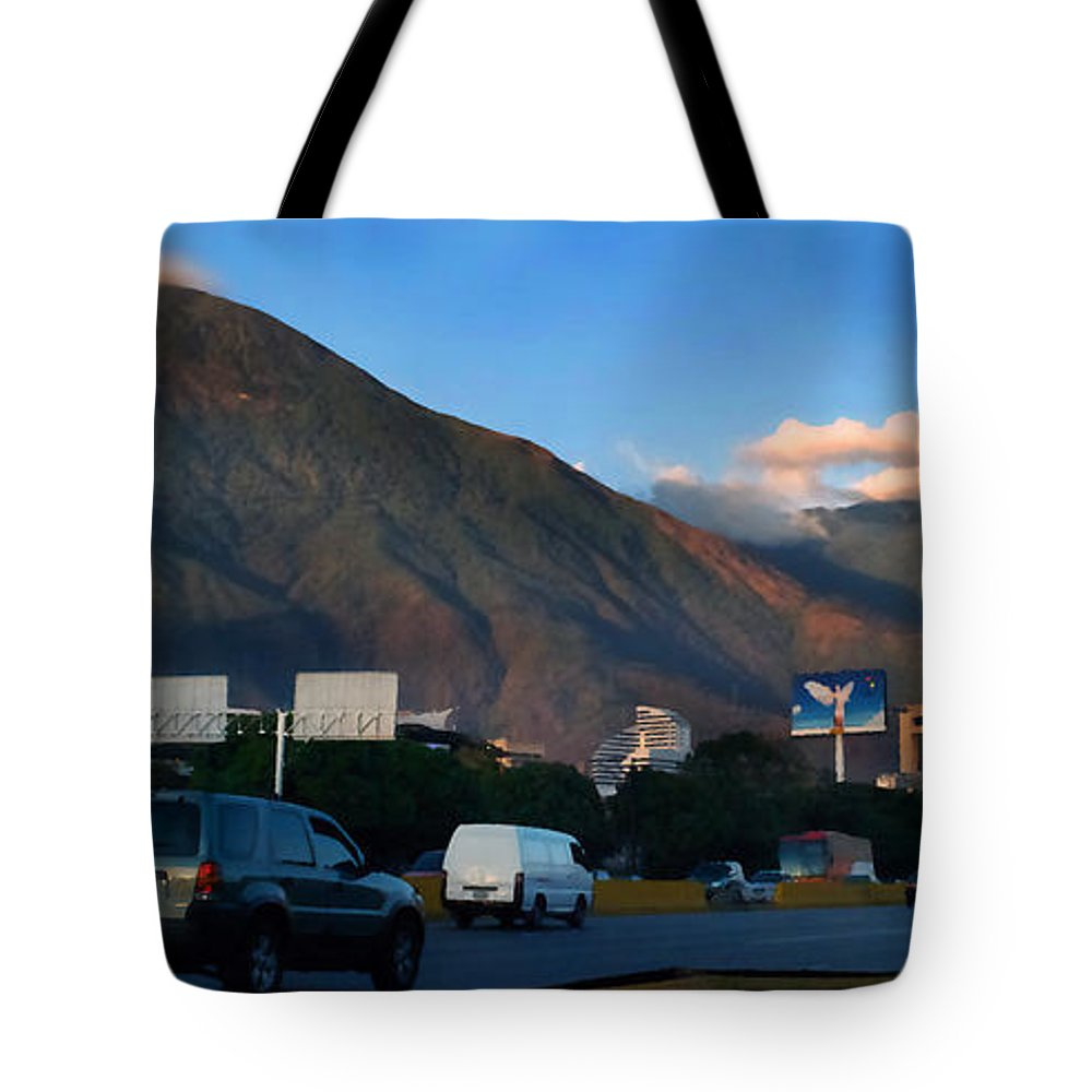 Avila Tote Bag featuring the photograph Avila From The Highway by Bibi Rojas