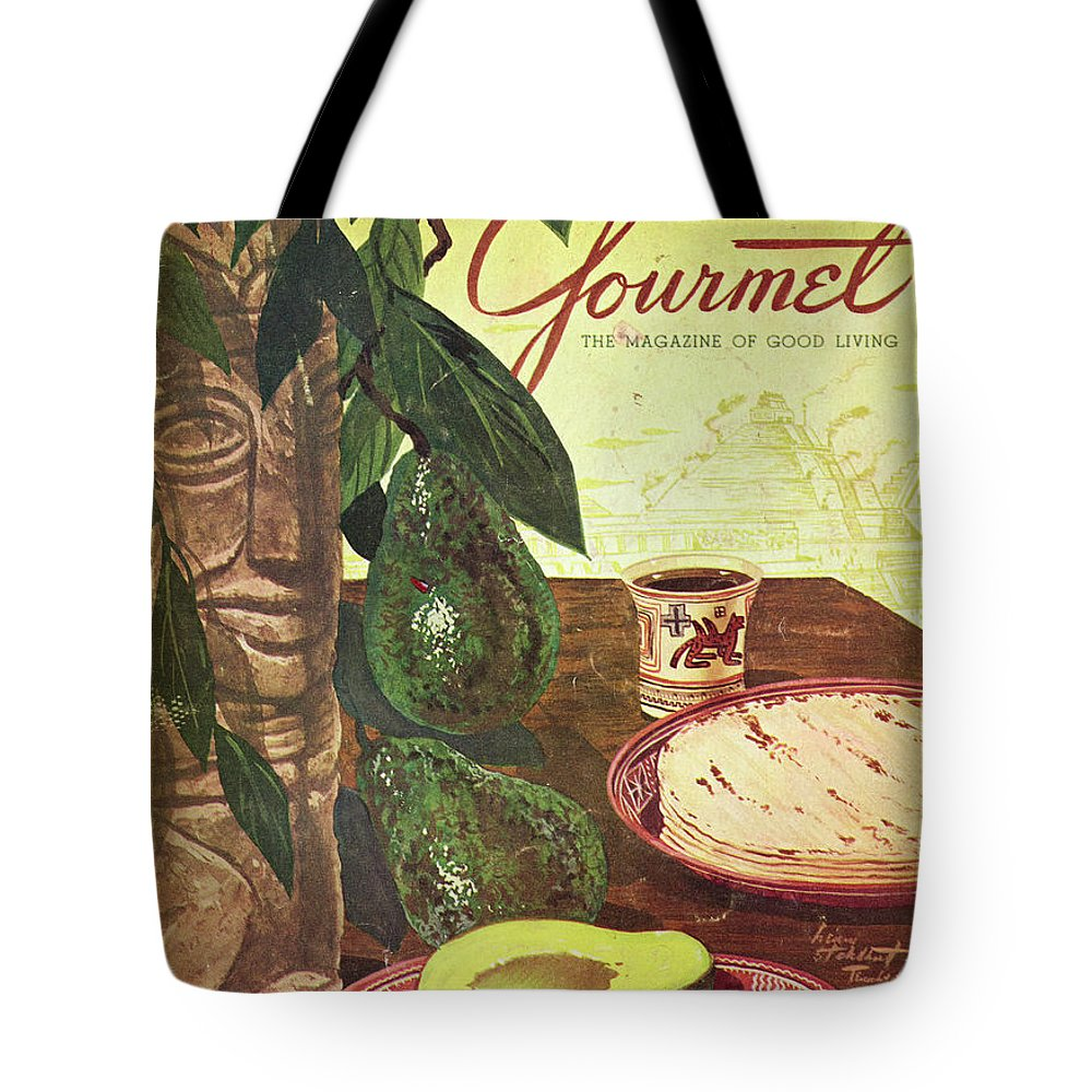 Food Tote Bag featuring the photograph Avocado And Tortillas by Henry Stahlhut