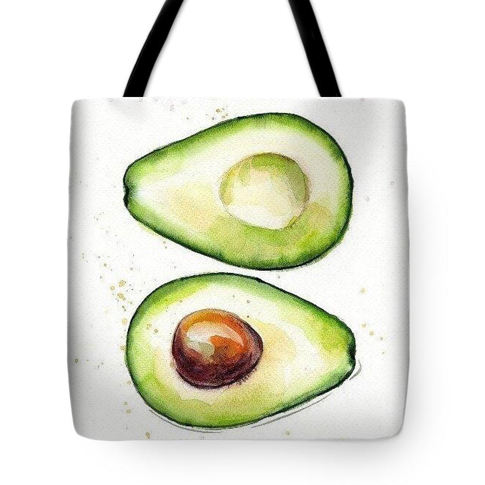 Avocado Tote Bag featuring the digital art Avocado by Aton Maiti