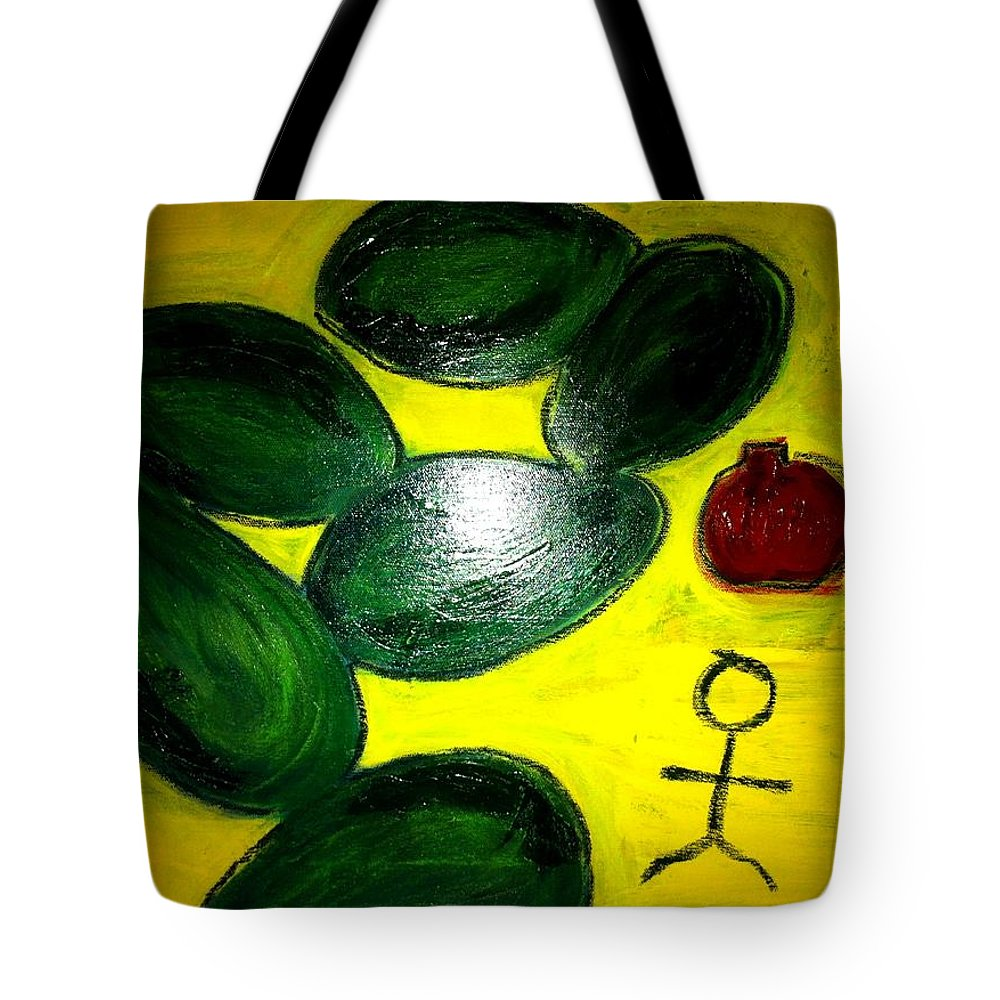 Avocado Tote Bag featuring the painting Avocado Man by Solenn Carriou