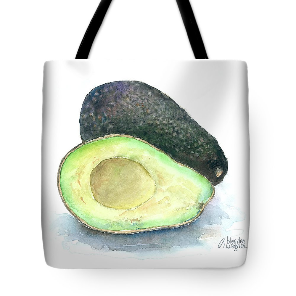 Avocado Tote Bag featuring the painting Avocados by Arline Wagner