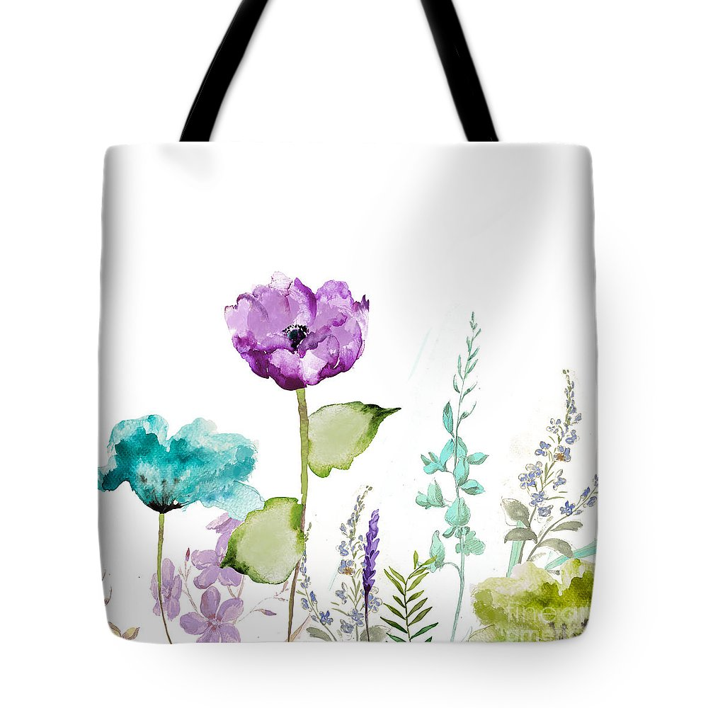 Garden Tote Bag featuring the painting Avril by Mindy Sommers