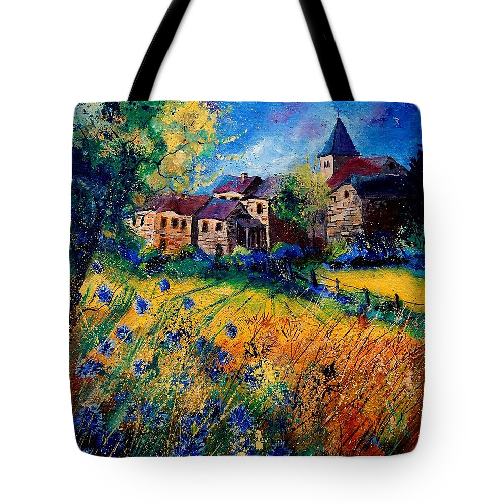 Tree Tote Bag featuring the painting Awagne 67 by Pol Ledent