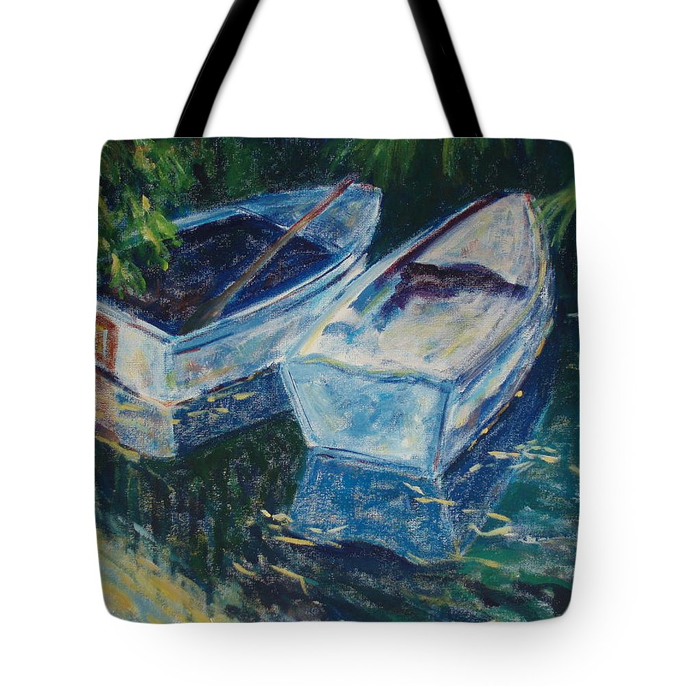 Monets Gardens Tote Bag featuring the painting Awaiting by Tara Moorman