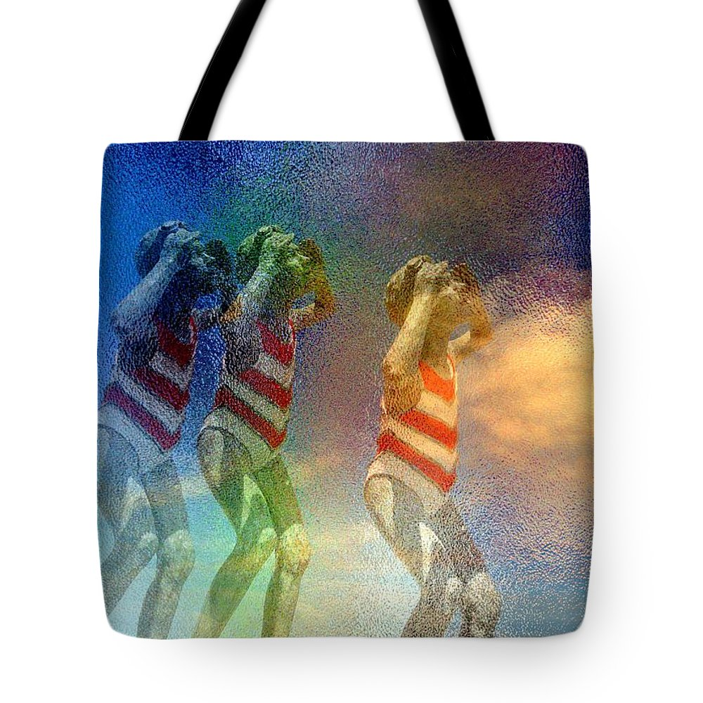 Girls Tote Bag featuring the digital art Awaiting The Moment by Derick Burke
