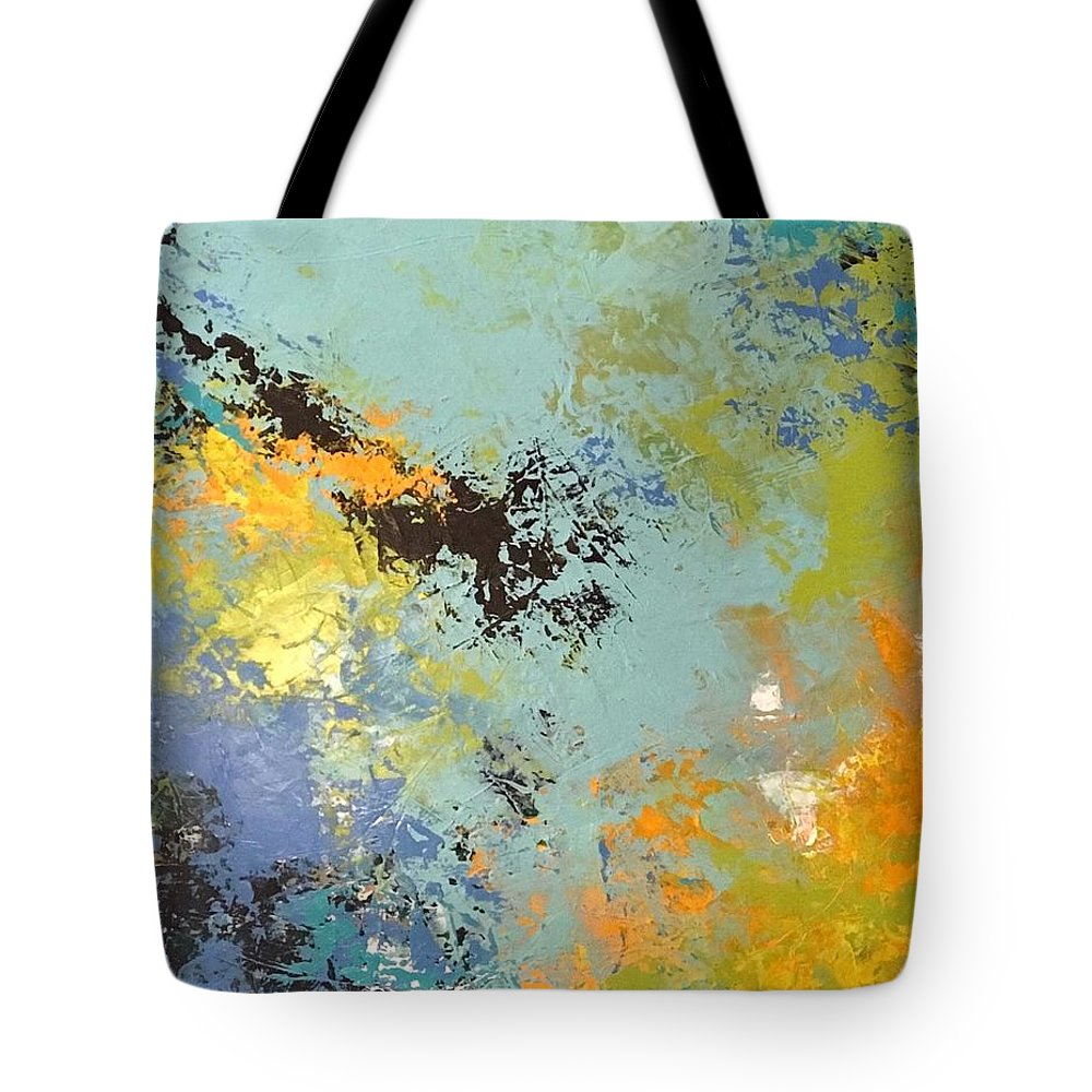 Abstract Tote Bag featuring the painting Awaken The Soul by Suzzanna Frank