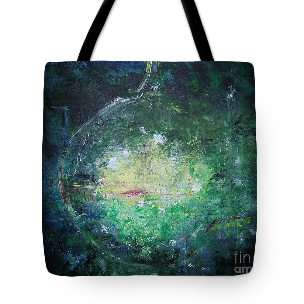 Abstract Tote Bag featuring the painting Awakening Abstract II by Lizzy Forrester