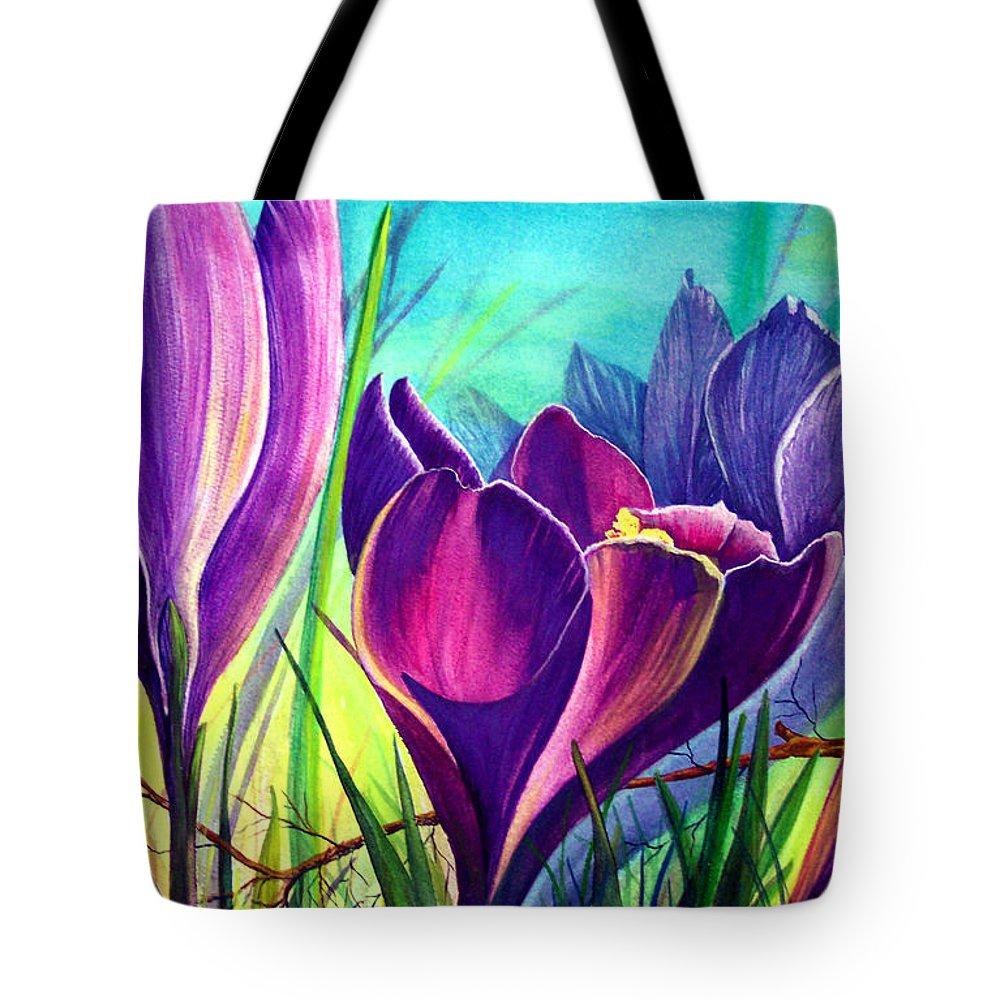 Awakening Tote Bag featuring the painting Awakening by Nancy Cupp