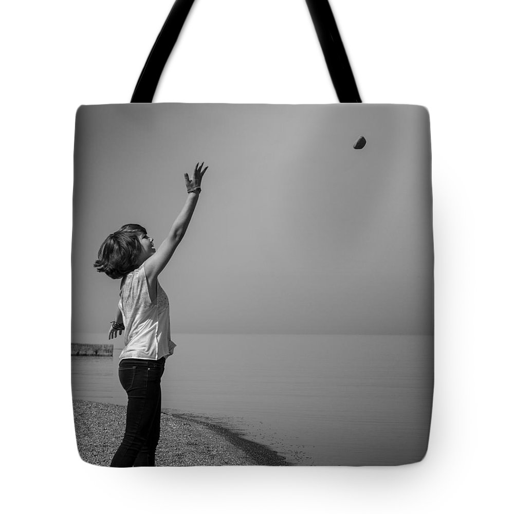 Girl Tote Bag featuring the photograph Away Stone by Steven R Breininger