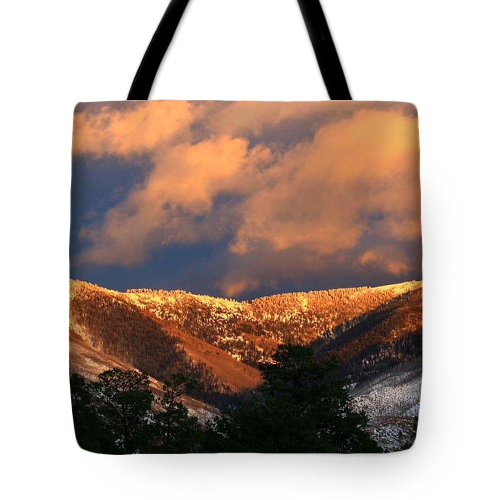 Sunset Tote Bag featuring the photograph Awesome Light Of New Mexico by CheyAnne Sexton