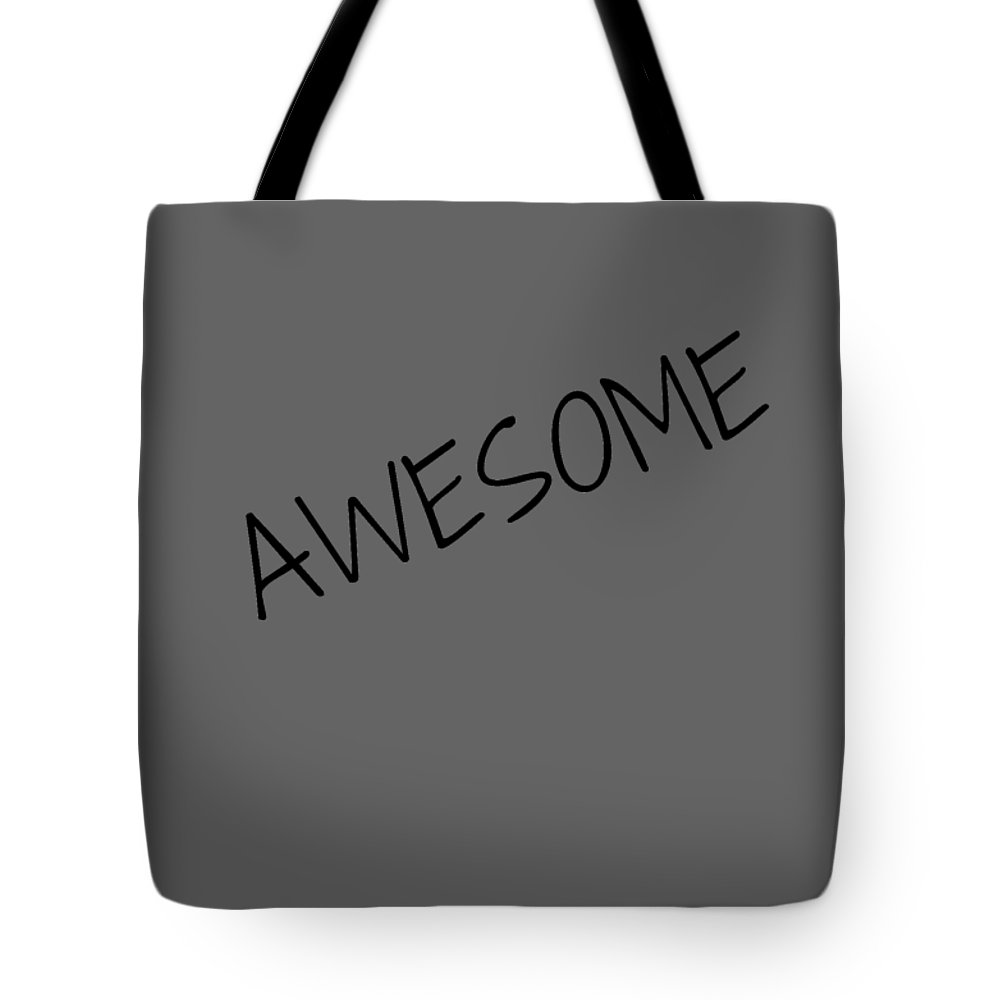 Tote Bag featuring the digital art Awesome by Mg